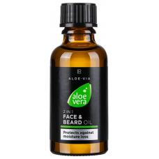 Масло для лица и бороды 2в1 LR Health and Beauty ALOE VIA Aloe Vera Face and Beard Oil 2in1, 30 мл, 20437