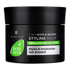 Бальзам для волос и бороды 2в1 LR Health and Beauty ALOE VIA Aloe Vera Hair and Beard Styling Balm 2in1, 50 мл, 20438