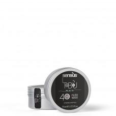 Матовый воск для волос сильной фиксации SENSUS Flex Wax 40, 75 мл