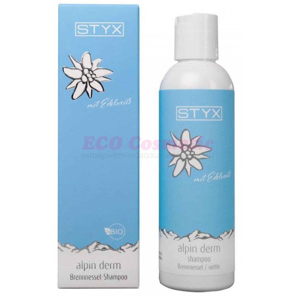 Шампунь для волос с крапивой и гуараной STYX Naturcosmetic Alpin Derm Nettle Shampoo, 200 мл