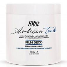 Осветляющий порошок для балаяжа Shot Ambition Tech Film Deco Bleaching Powder, 500 г