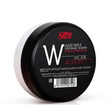 Воск для волос сильной фиксации с эффектом блеска Shot Hair Wax Strongly Sound Work Activity W, 100 мл