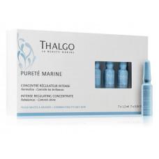 Себорегулирующий концентрат для жирной и комбинированной кожи THALGO Purete Marine Intense Regulating Concentrate, 7х1,2 мл