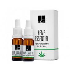 Олія сироватка з маслом канабісу для сухої шкіри Dr. Kadir B3 Hemp essential oil serum for dry  skin, 2х10 мл