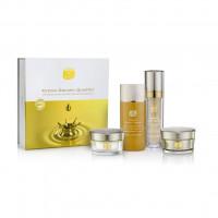 Набор косметики с золотом Kedma Golden Quartet (Gold Toner, Serum, Mask & Cream), 1 упаковка