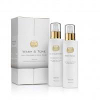 Набор молочко и тоник для очищения лица Kedma Wash & Tone Set Milk Cleanser & Skin Toner, 2х180 г