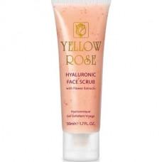 Скраб с гиалуроновой кислотой и цветочными экстрактами Yellow Rose Hyaluronic Face Scrub, 50 мл