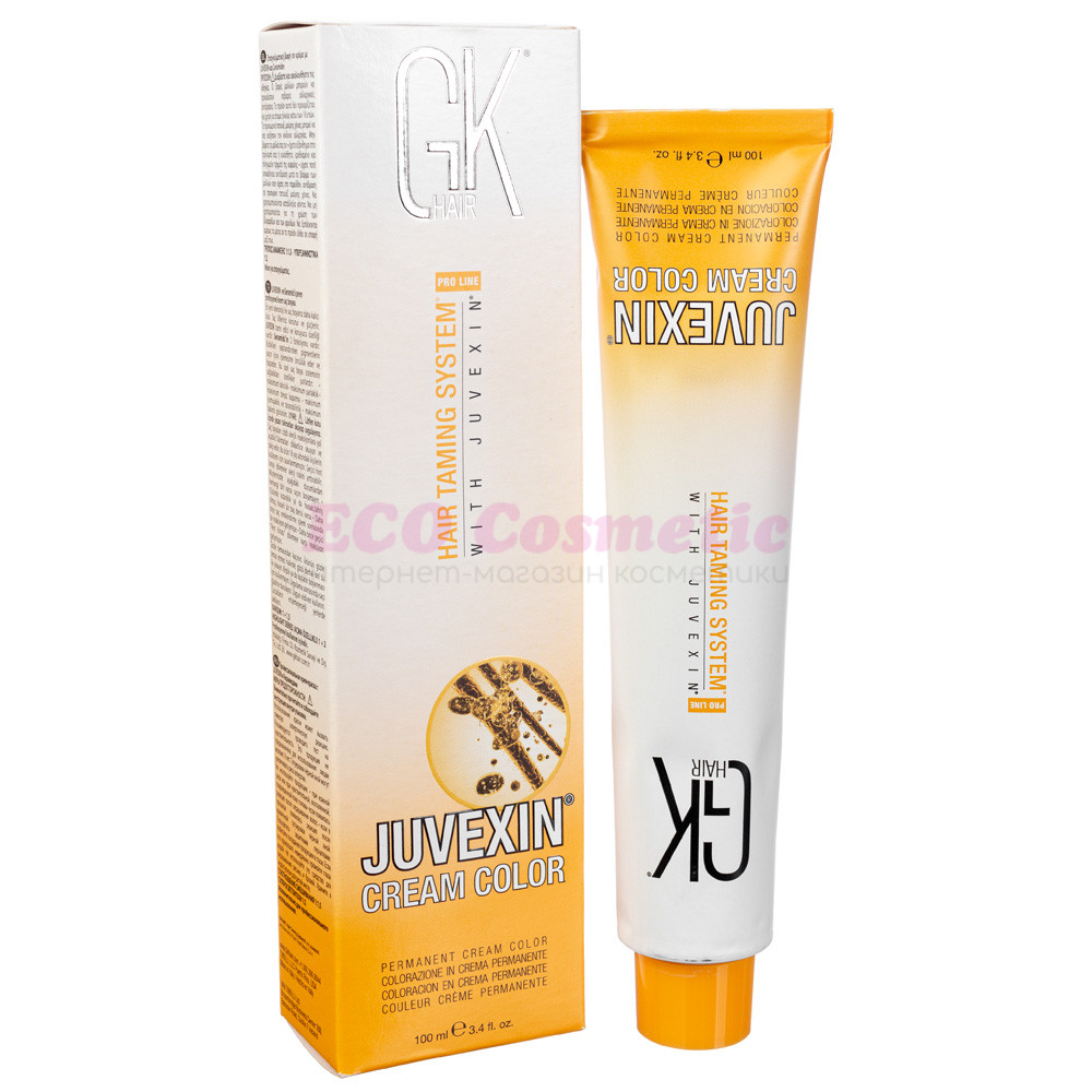 Аммиачная краска с керамидами и кератином GKHair Cream Hair Color, 100 мл