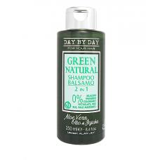 Шампунь-бальзам 2 в 1 Alan Jey Green Natural Shampoo Balsamo 2 in 1, 250 мл