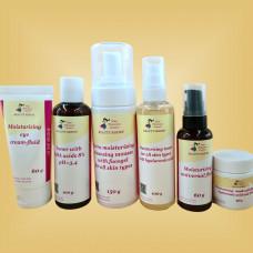 Набор для ухода за комбинированной и жирной кожей Nikol Professional Cosmetics Premium Normal, 1 упаковка