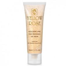 Подтягивающая гелевая маска с золотом Yellow Rose Golden Line Face Radiance Gel Mask, 50 мл