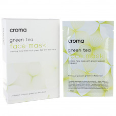 Маска для лица с зеленым чаем Croma Princess FACE MASK WITH GREEN TEA, 1 шт