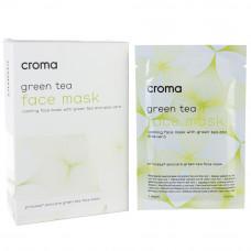 Маска для лица с зеленым чаем Croma Princess FACE MASK WITH GREEN TEA, 1 шт