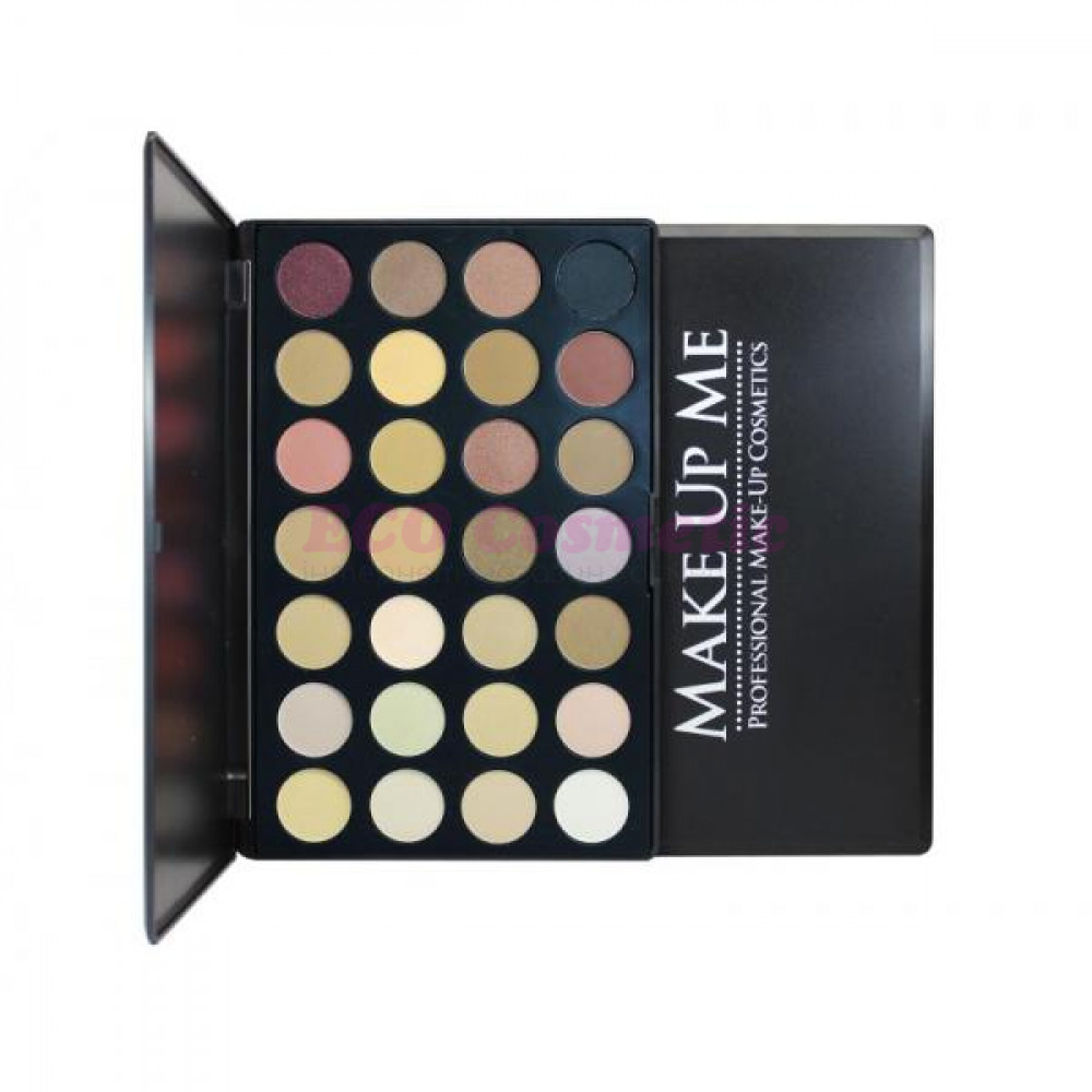 Палитра нейтральных теней 28 цветов Make Up Me P28, 1 шт