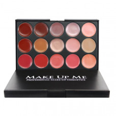 Профессиональная палитра помад для губ 15 цветов Make Up Me L15-2 - L15-2