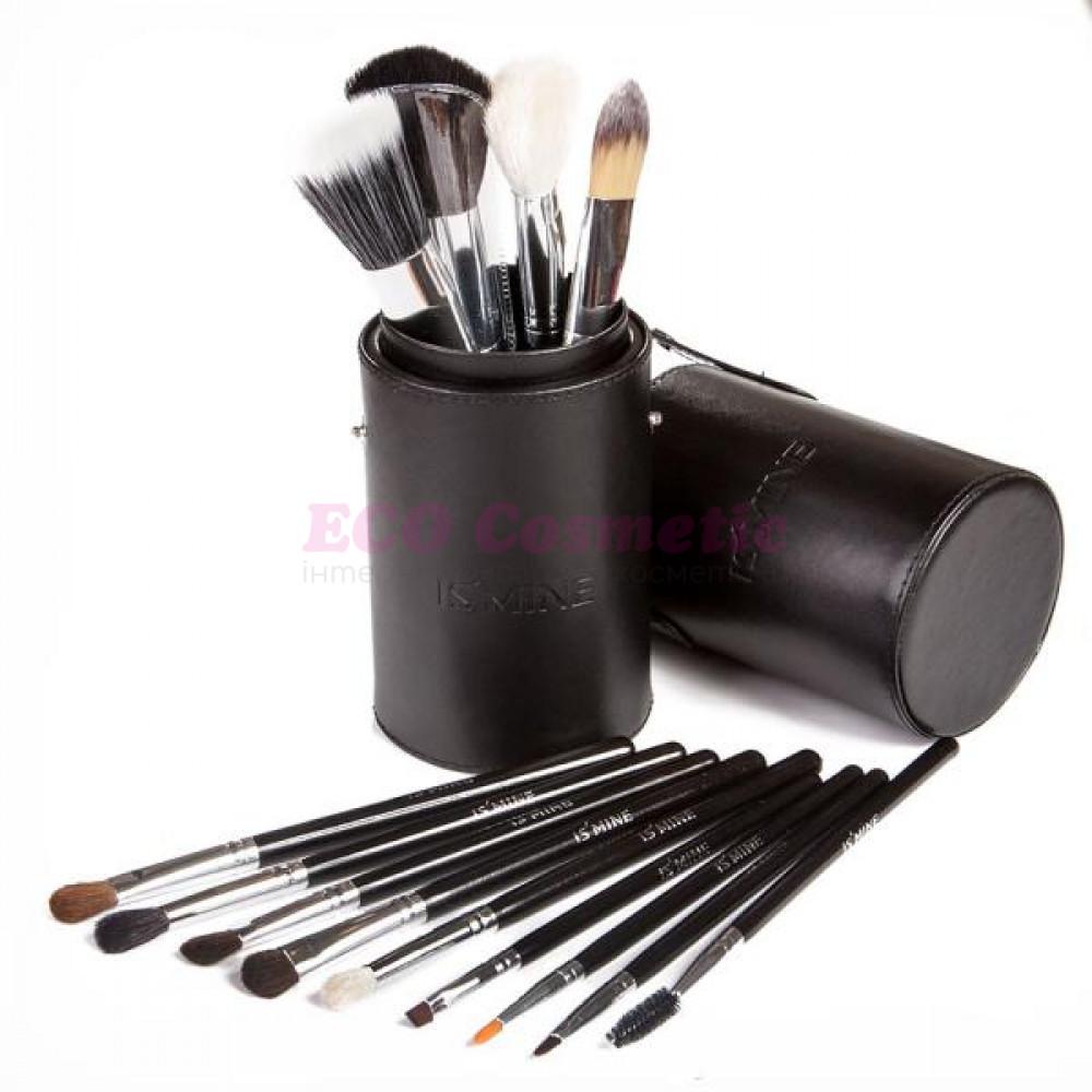 Профессиональный набор кистей для макияжа 13 шт - Make Up Me TUBE-13 Черный - TUBE-13-3