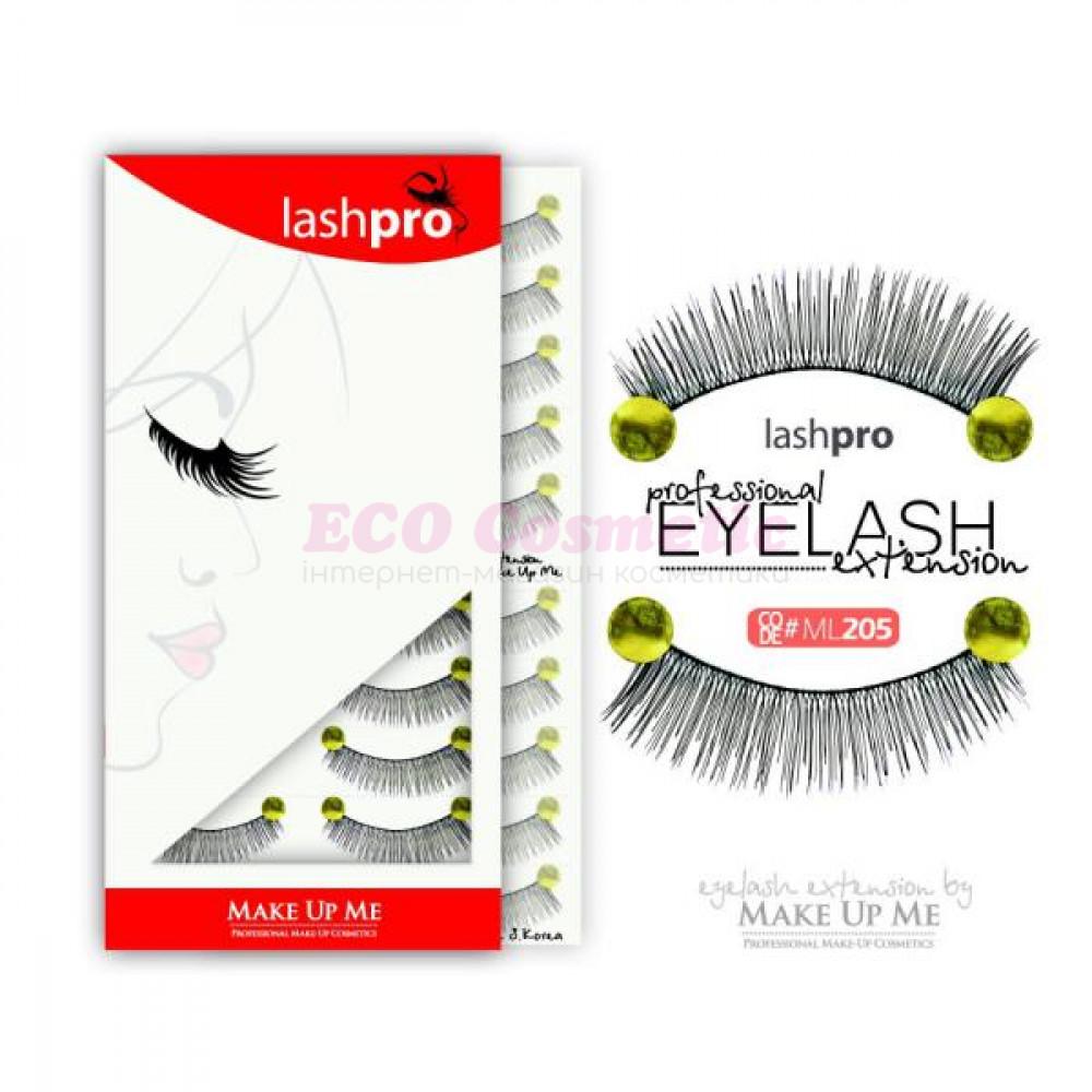 Профессиональный набор ресниц 10 пар - Make Up Me LashPro ML205 - ML205