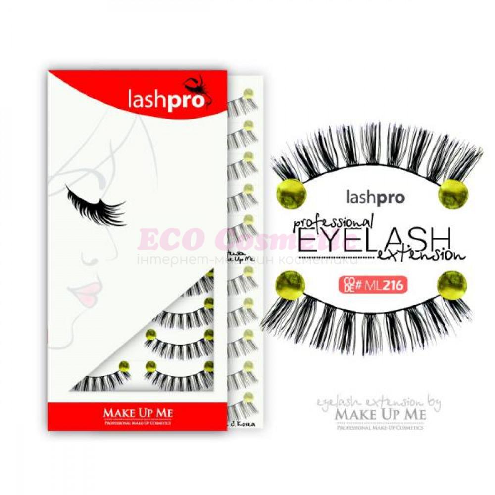 Профессиональный набор ресниц 10 пар - Make Up Me LashPro ML216 - ML216