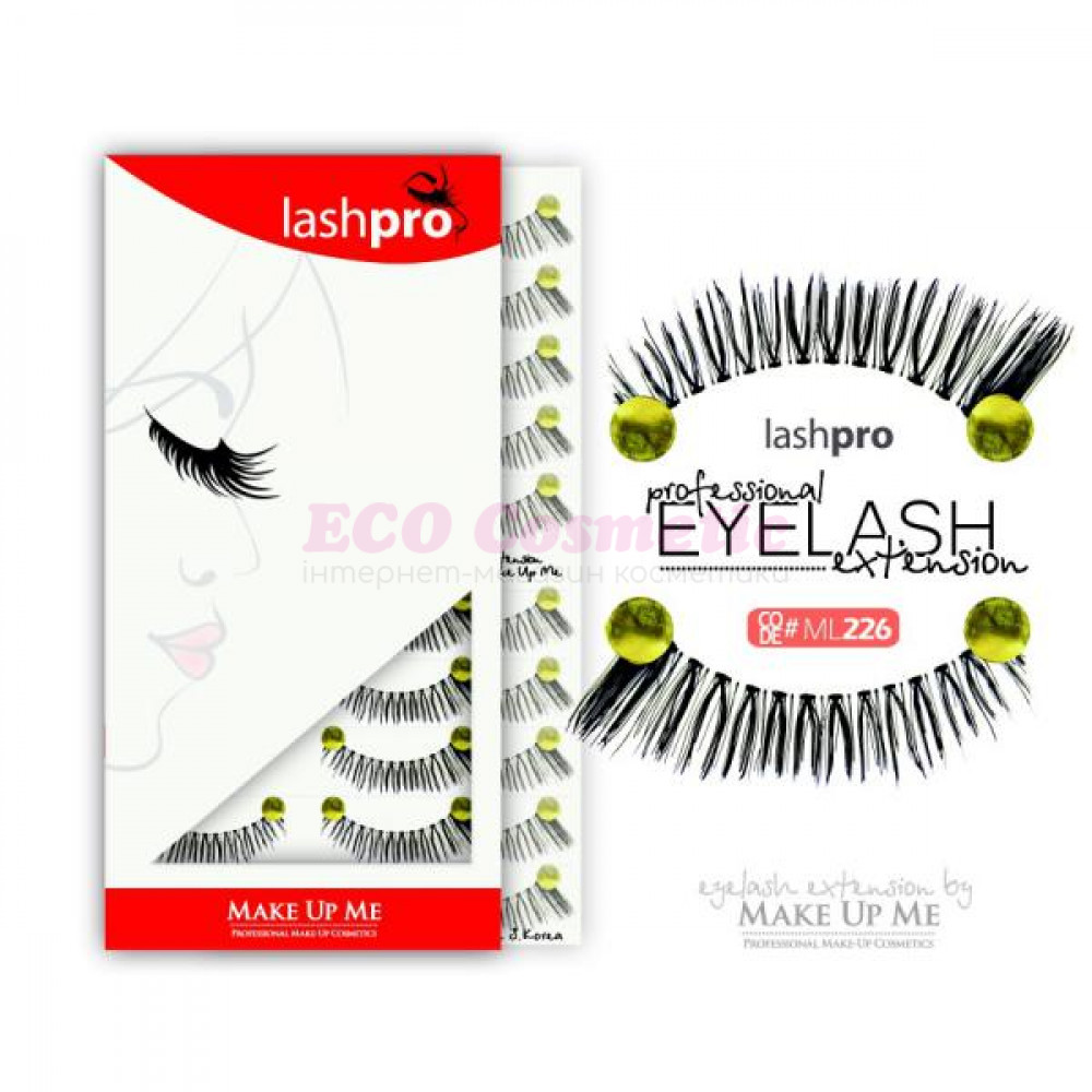 Профессиональный набор ресниц 10 пар - Make Up Me LashPro ML226 - ML226