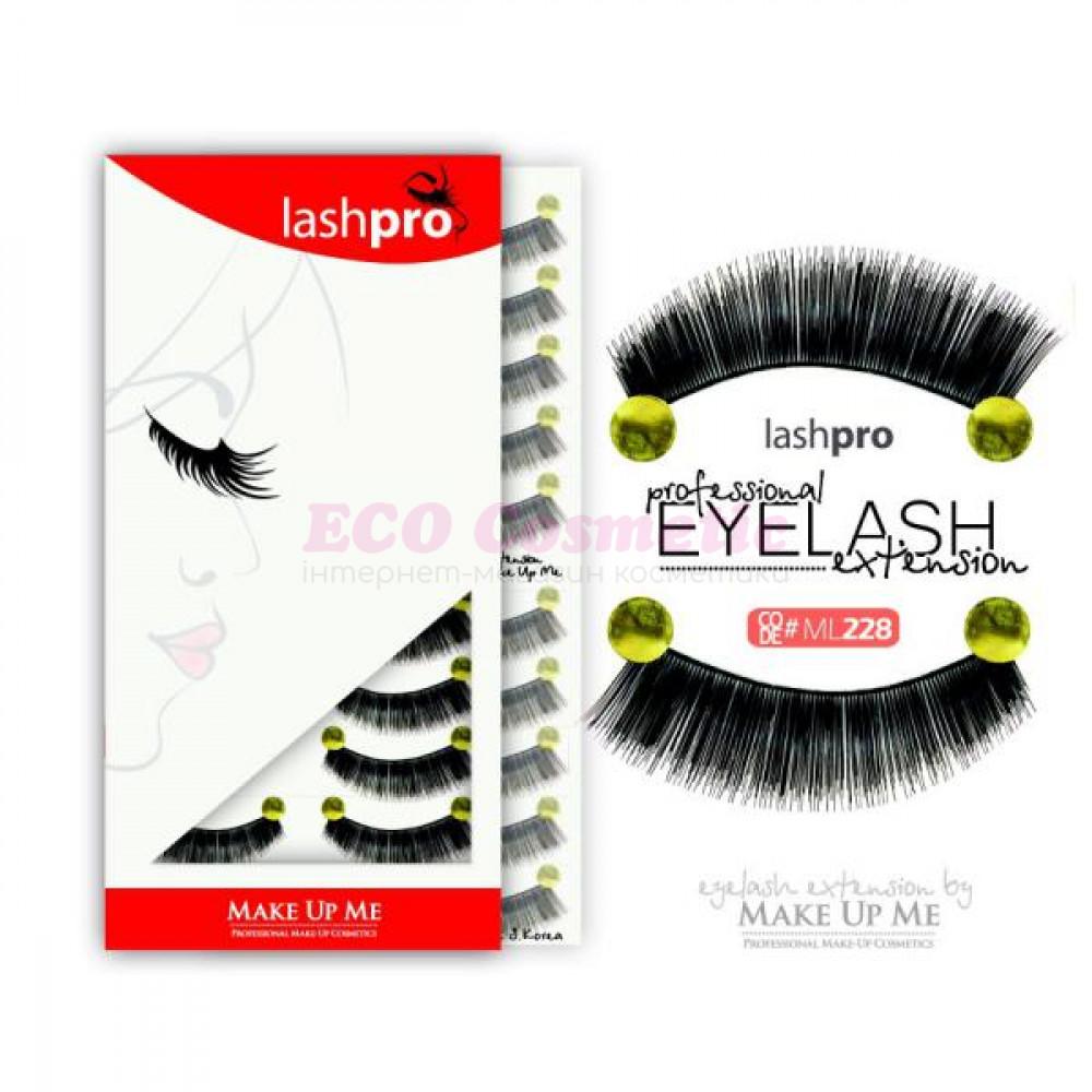 Профессиональный набор ресниц 10 пар - Make Up Me LashPro ML228 - ML228