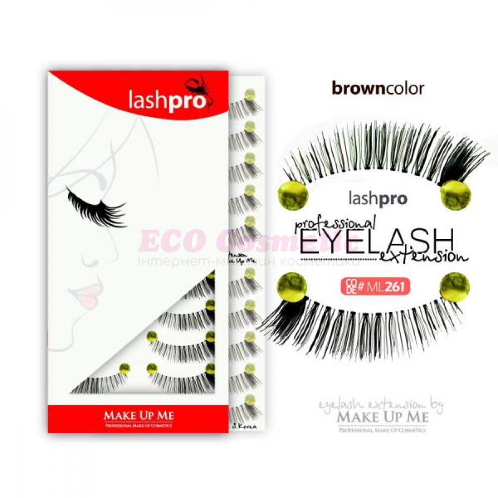 Профессиональный набор коричневых ресниц 10 пар - Make Up Me LashPro ML261 - ML261