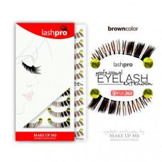 Профессиональный набор коричневых ресниц 10 пар - Make Up Me LashPro ML262 - ML262