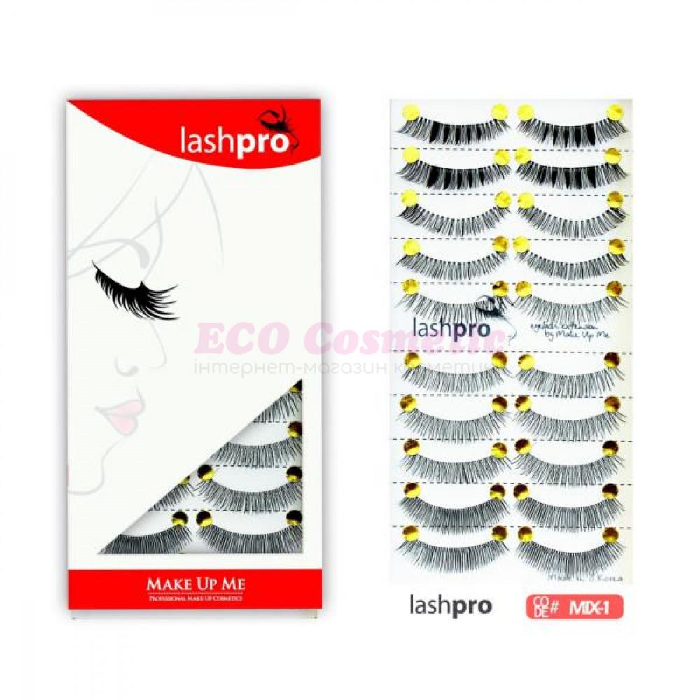 Универсальный набор ресниц 5 видов 10 пар - Make Up Me LashPro MIX-1 - MIX1