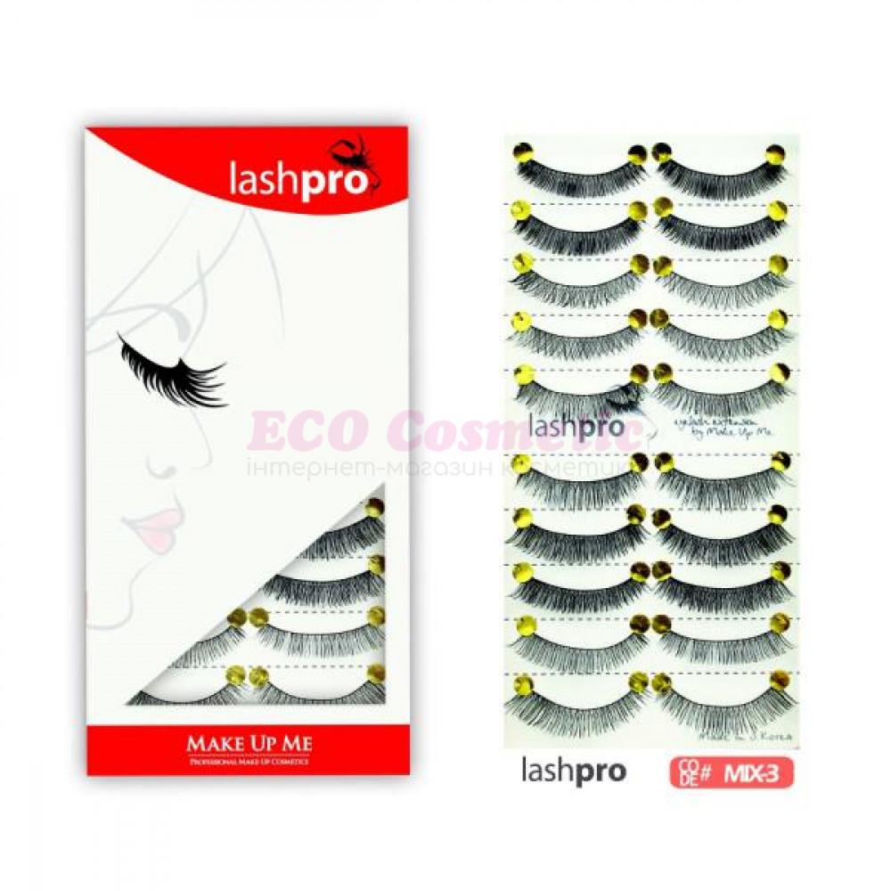 Универсальный набор ресниц 5 видов 10 пар - Make Up Me LashPro MIX-3 - MIX3