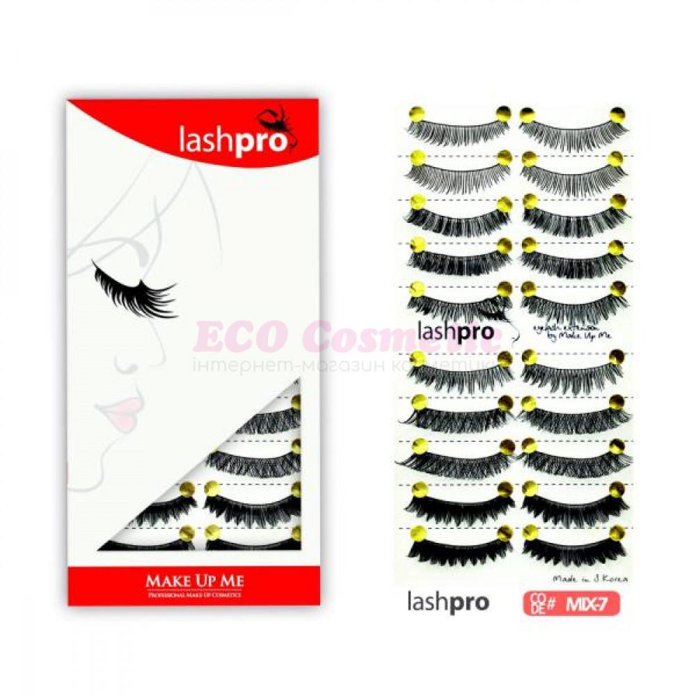 Универсальный набор ресниц 5 видов 10 пар - Make Up Me LashPro MIX-7 - MIX7