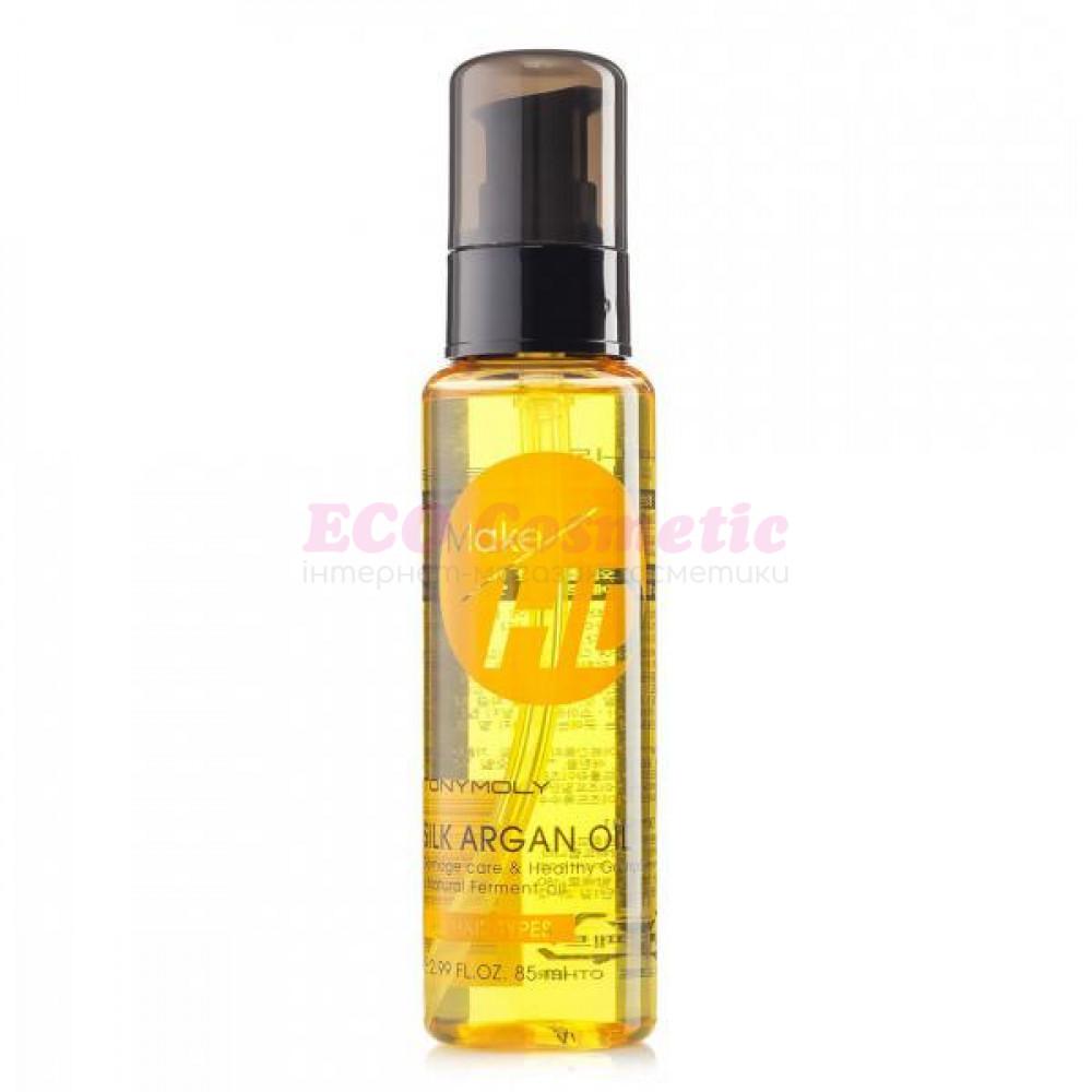 Аргановое масло для волос Tony Moly Make HD Silk Argan Oil, 85 мл