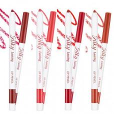 Карандаш для губ Missha Silky Lasting Lip Pencil (BR02/Salsa Red) RD04/Apple Burnt - I5266
