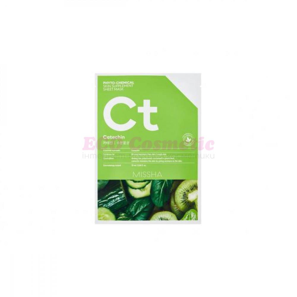 Тканевая маска увлажняющая с катехином Missha Phytochemical Skin Supplement Sheet Mask (Catechin/Hydrating)  - I2154