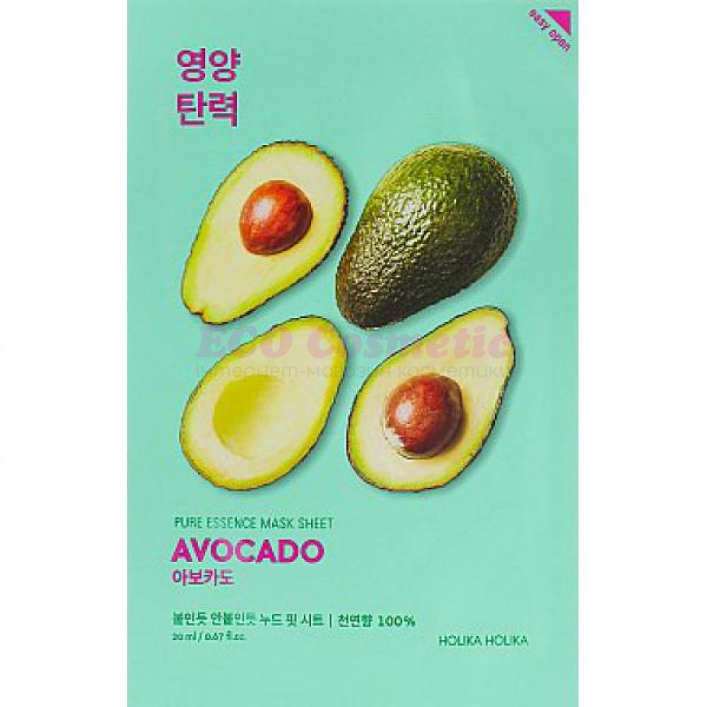Тканевая маска Авокадо Holika Holika Pure Essence Mask Sheet Avocado - 2001637