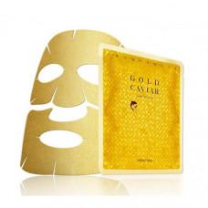 Антивозрастная маска с икрой и золотом - Holika Holika Prime Youth Gold Caviar Gold Foil Mask - 20013268